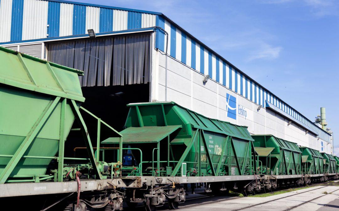 La carga ferroviaria en el Puerto desciende un 35% durante el primer trimestre
