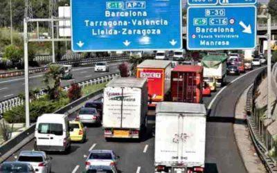 Sigue creciendo el tráfico de camiones entre Tarragona y Barcelona, y entre Tarragona y Valencia
