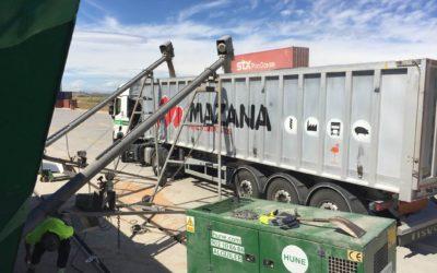 La terminal AgroTim en Monzón duplicará los trenes de agroalimentario con el Puerto