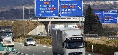 Sigue creciendo el tráfico de camiones por la autopista entre Tarragona y Barcelona