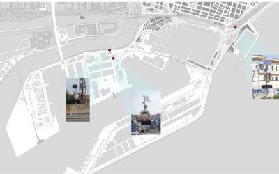 El Puerto instala las primeras señales de cruce inteligente en el espacio portuario