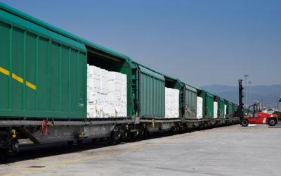 El Port retoma el servicio ferroviario de pasta de papel con Salamanca