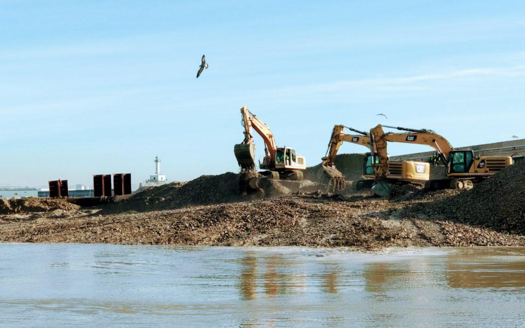 El Port prevé tener consolidada en una semana la altura del nuevo muelle de Balears