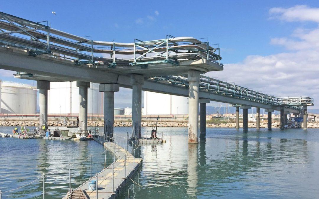 Mejora y reparación del puente del muelle de la Química