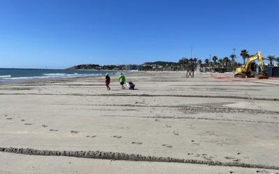 El Port finaliza las tareas de regeneración de la playa de La Pineda