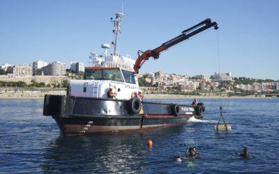 El Port coloca biotopos en la playa del Miracle