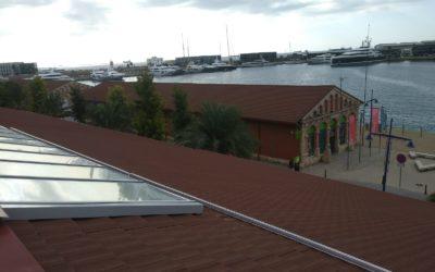 Comienza la instalación de placas fotovoltaicas en el Museu del Port